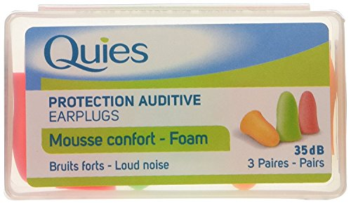 QUIES Earplug Mousse Fluo 3 Paires
