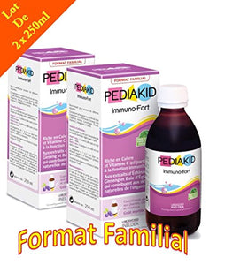 Pediakid Immuno-Fort Défenses naturelles de l'organisme - Format Familial 250ml - Lot de 2 Flacons