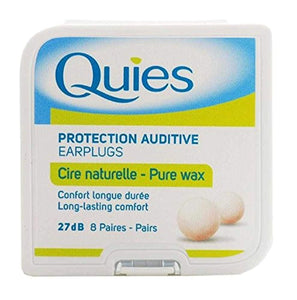 5 x Quies Wax Ear Plugs 8 Pairs Five packs - Super Deal by Quies