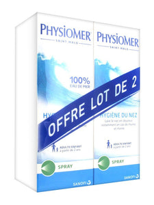 Physiomer Hygiène du Nez Spray Lot de 2 x 135 ml