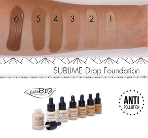 PuroBio Sublime Drop base Fond de teint fluid lutte contre la Pollution 15 ml couleur 2