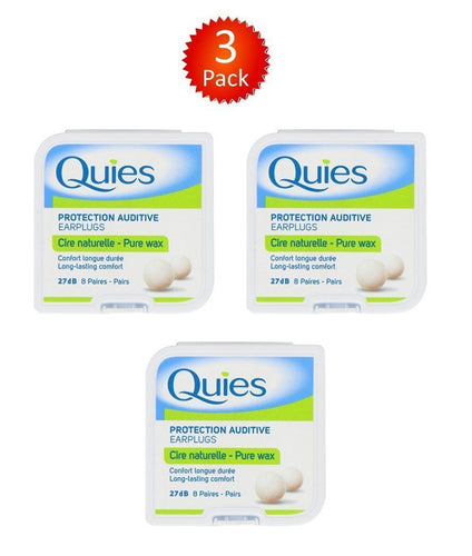 Boules Quies en cire naturelle Lot de 8