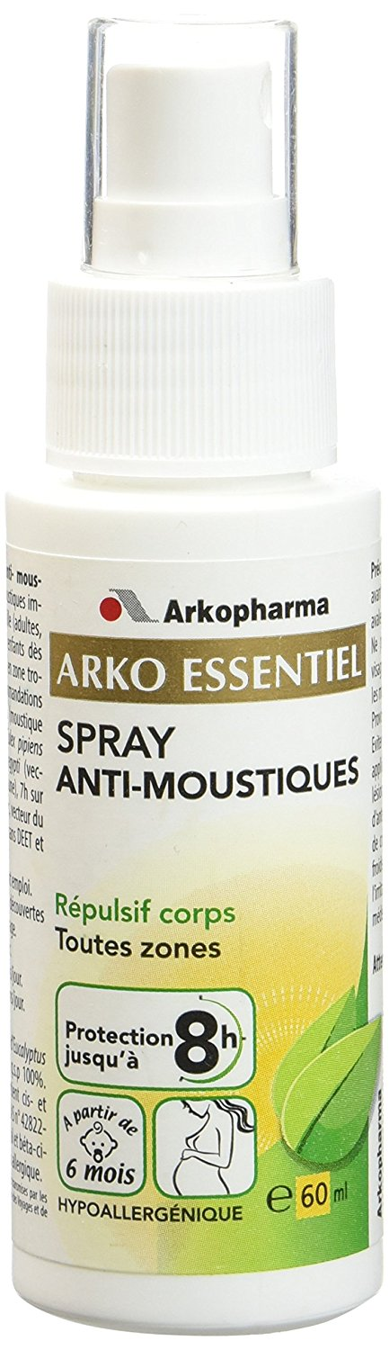 Arkopharma Aromathérapie Complexe Spray Corps Anti-Moustiques 60 ml