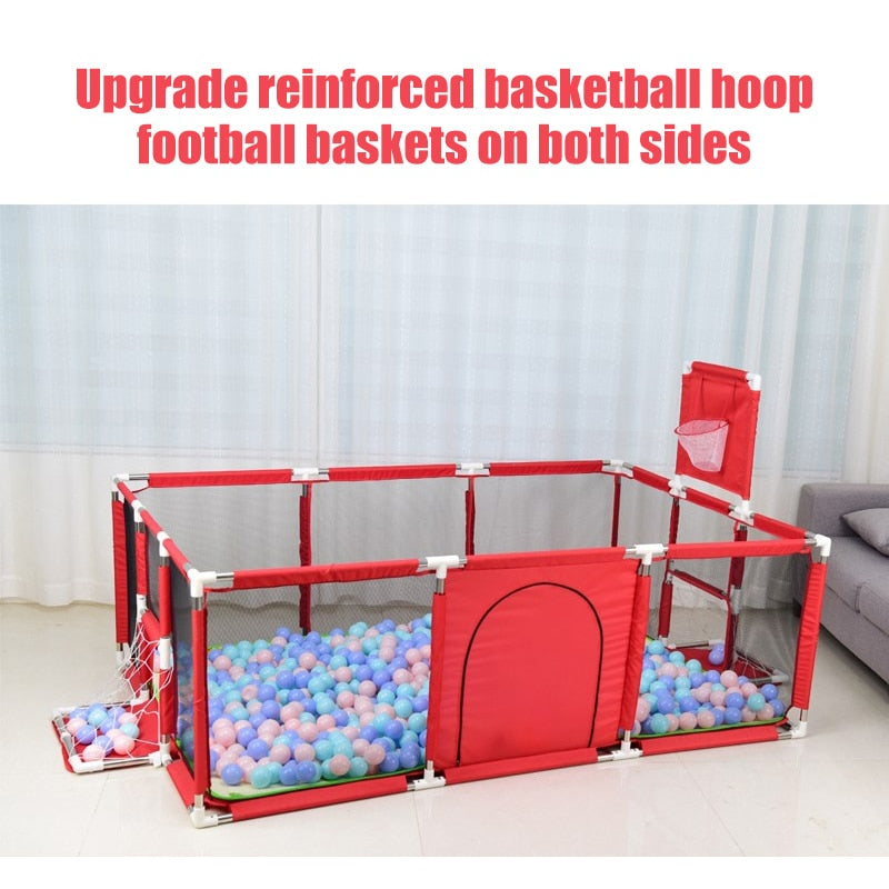 Baby Portable Playpen Play Yard With 8 Panel Gate Outdoor