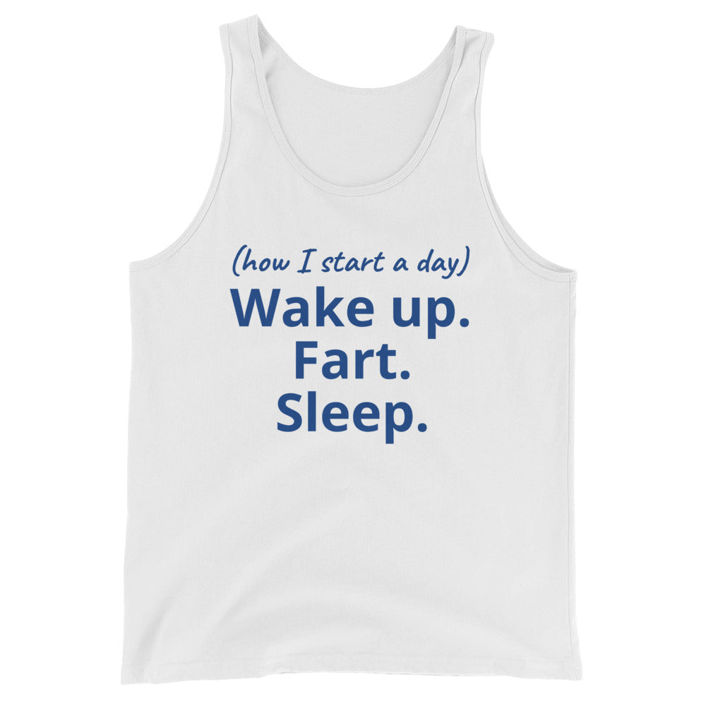 Unisex Tank Top - how I start a day
