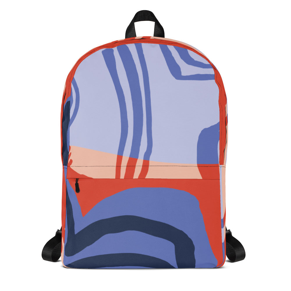 Curvature Blue Waves Backpack