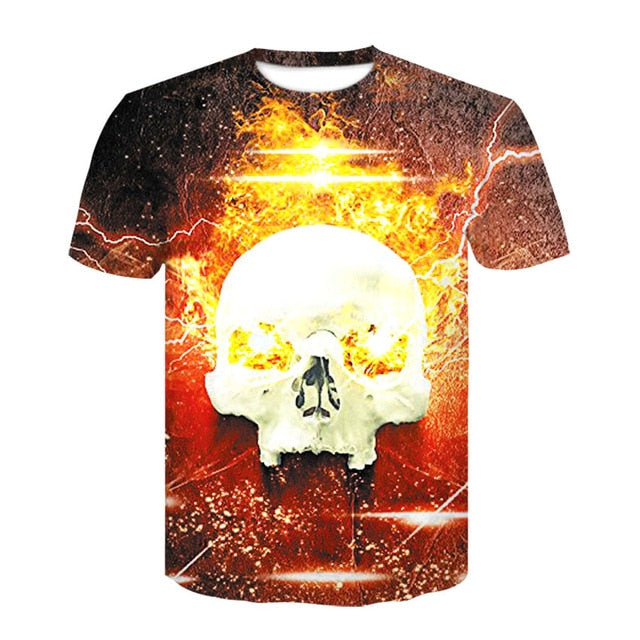 Hypnotic Flaming Skull