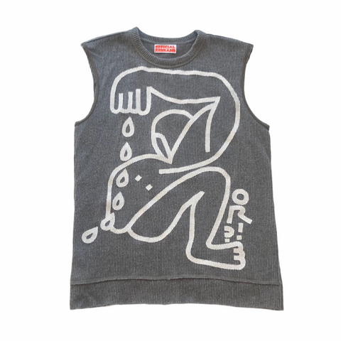 Modigliani Body Painted Sweater Vest