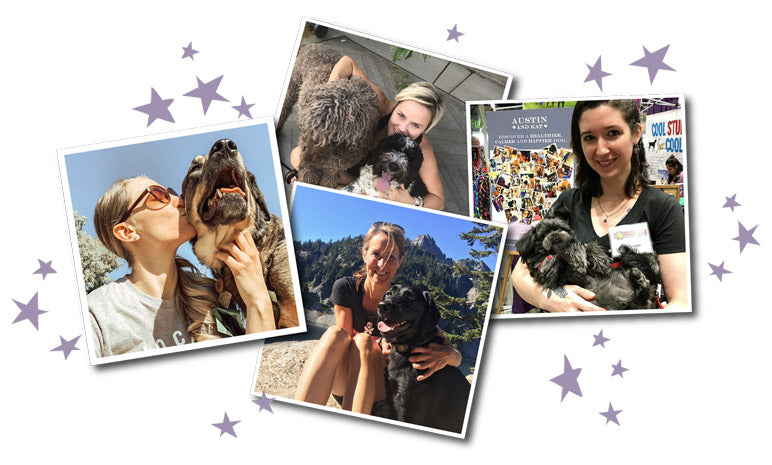 Austin and Kat Collage of people with dogs