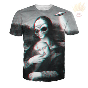 Alien Lisa T-Shirt X-Small / Ultra Premium Multi T-Shirts