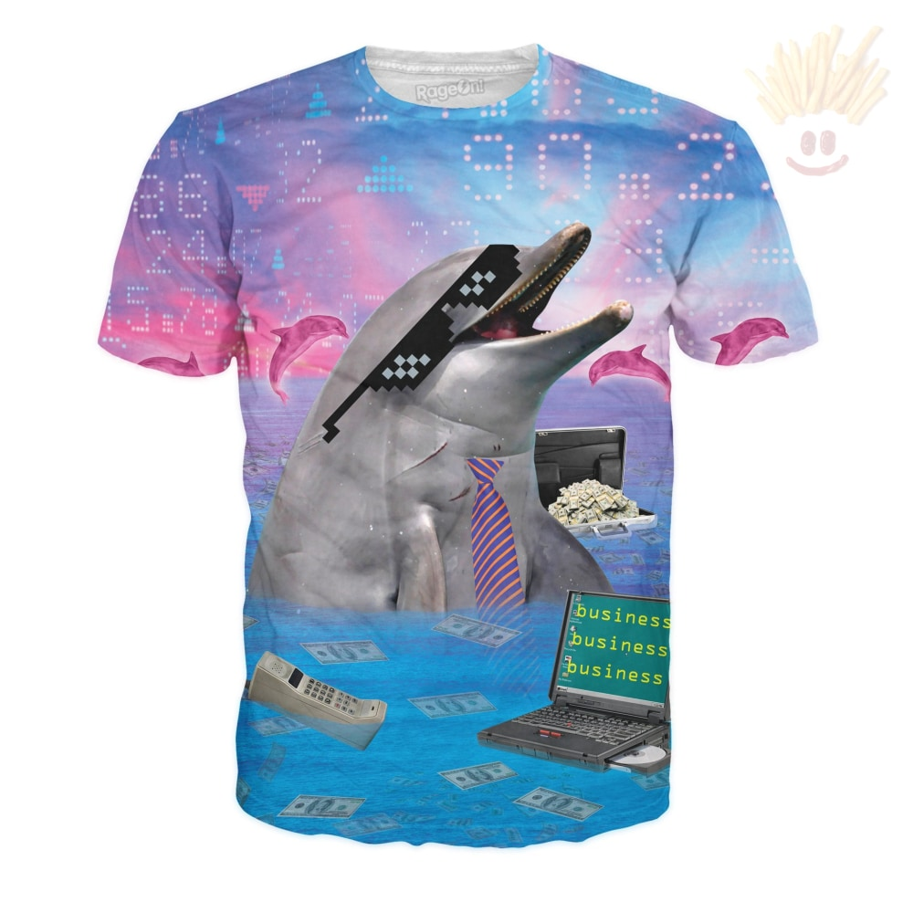 Business Dolphin T-Shirt X-Small / Ultra Premium Aqua T-Shirts