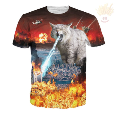 Cat-Astrophe T-Shirt X-Small / Ultra Premium Multi T-Shirts