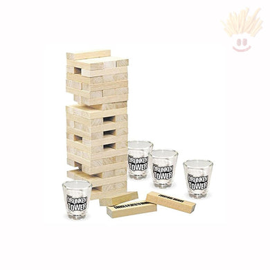Drunken Tower - The Grab A Piece Adult Drinking Game Novelty Items