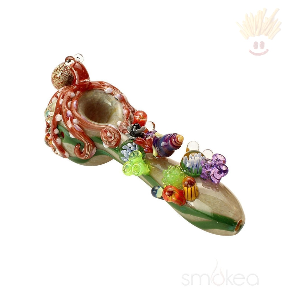 Empire Glassworks Limited Edition Finding Kraken Hand Pipe Spoons