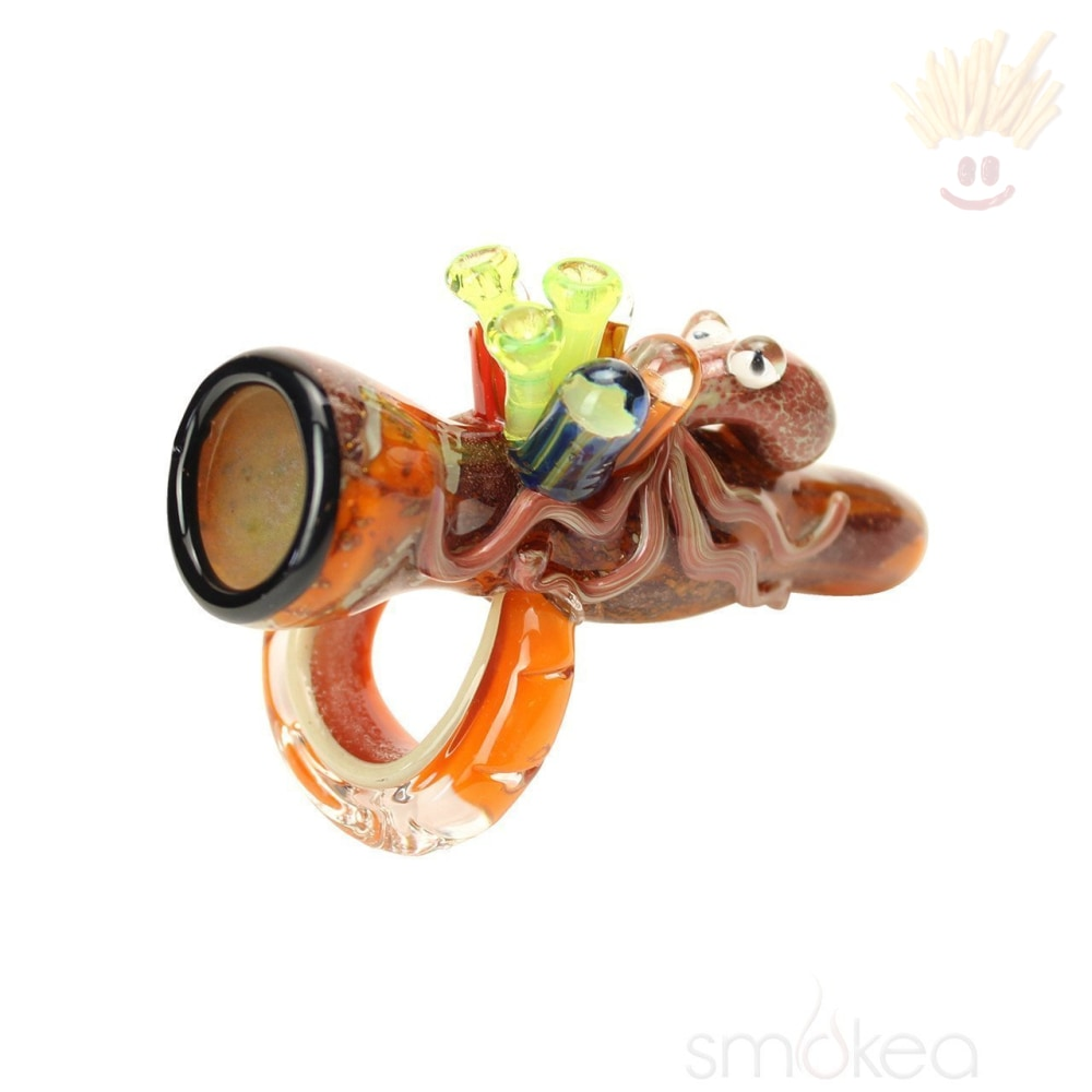 Empire Glassworks Ollie The Octopus Chillum Pipe Hand Pipes