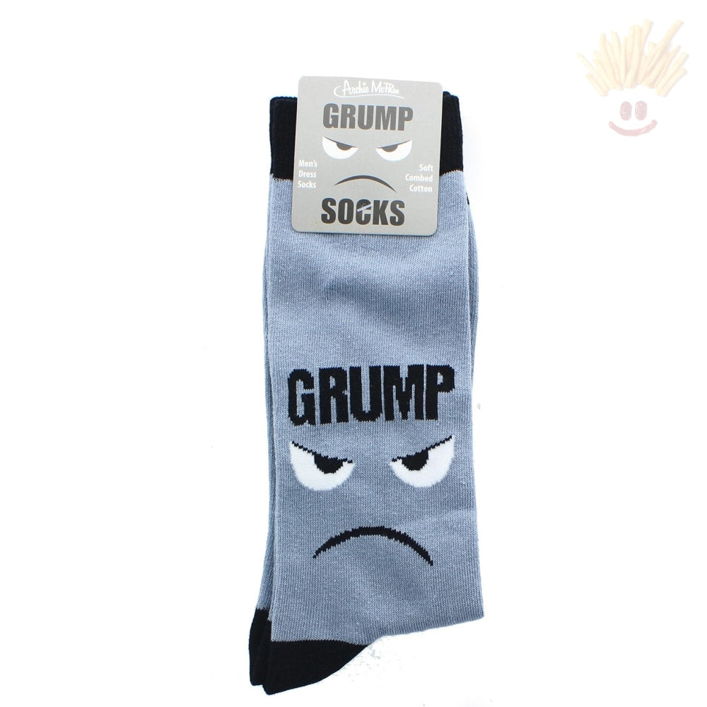 Grumpy Mens Crew Socks Novelty Items