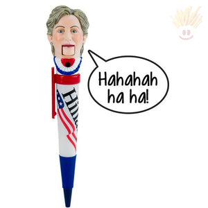 Hillary Clinton Laughing Novelty Pen - The Baked Potato Store