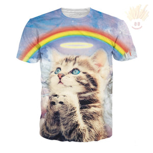 Holy Cat T-Shirt X-Small / Ultra Premium Azure T-Shirts