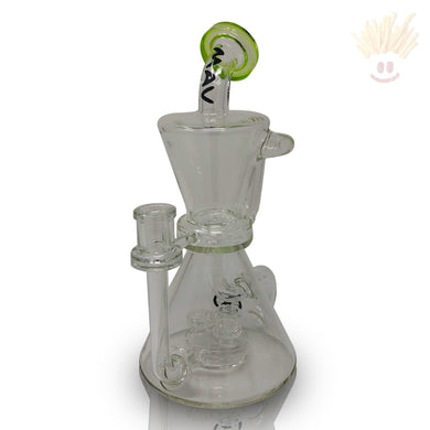 Hourglass Inverted Tree Puck Ooze Recycler Rig Bongs