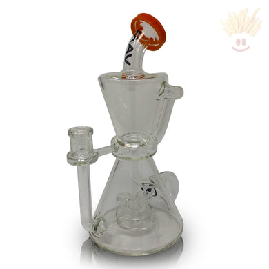 Hourglass Inverted Tree Puck Orange Recycler Rig Bongs