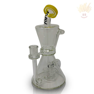 Hourglass Inverted Tree Puck <Br>Yellow Recycler Rig Bongs