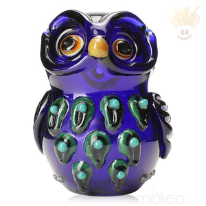 Mathematix Colored Owl Hand Pipe Blue Pipes