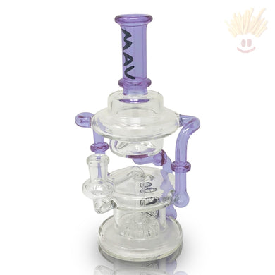 Micro Tx140 Double Uptake Hover Recycler Rig Purple Bongs
