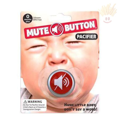 Mute Button Baby Pacifier Novelty Items