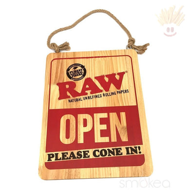 Raw Wood Open/closed Sign Everything Else