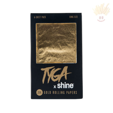 Shine Tyga King Size 24K Gold Papers (6-Sheets) Rolling