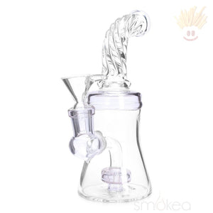 Smokea 8 Cut Glass Mini Bong W/ Bent Neck Bongs
