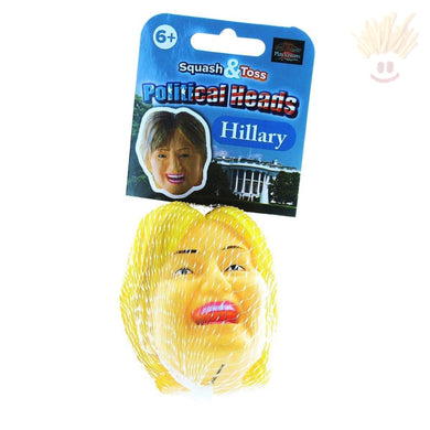 Squash And Toss Stress Ball: Hillary Clinton Novelty Items