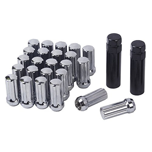 HanAuto Chrome Plating Lug Nuts with 2 Key(14mm x 1.5 Thread - Truck Driver Store