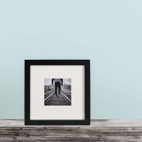 Single, Black, 8x8 Photo Frame (4x4 Matted)