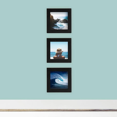 3-Pack, Black, 4x4 Photo Frame