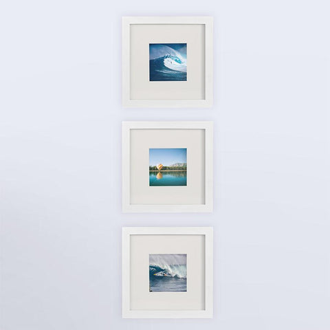 3-Pack, white, 8x8 Photo Frame (4x4 Matted)
