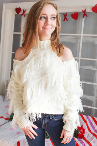 Peek-a-Fringe Sweater