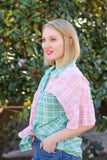 Lilly Plaid Top