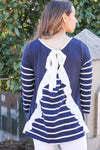Navy and White Ruffle Basic