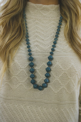 Jolene Single Strand - Teal