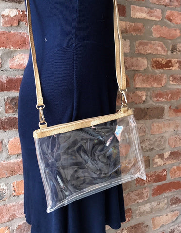 Stadium Clear Crossbody x Gold Trim