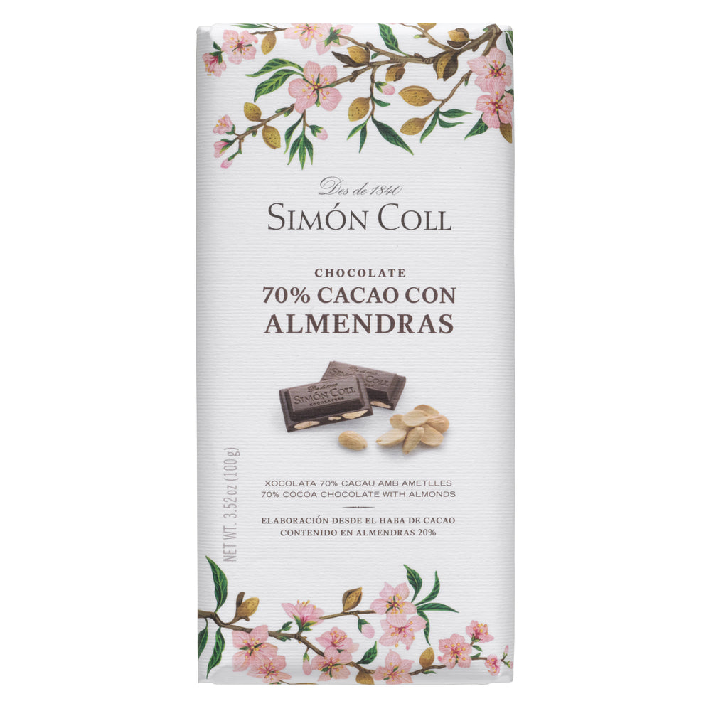 Simon Coll 70% Chocolate & Almonds 100 g Package
