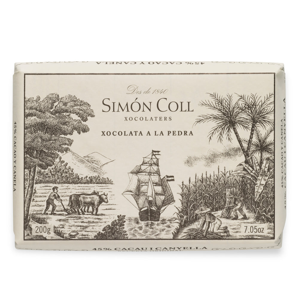 Simon Coll Drinking Chocolate 45% Cocoa 200g Bar