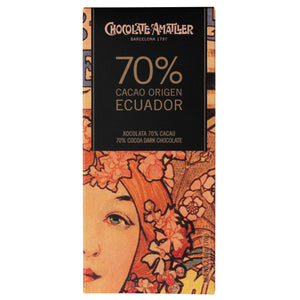 Chocolate Amatller 70% Cocoa Ecuador 70g bar