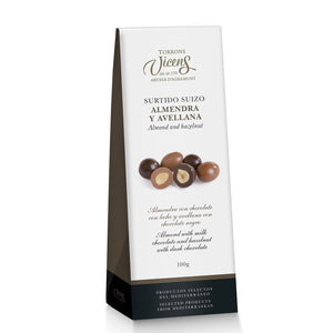 Almond And Hazelnut With Chocolate 100g.