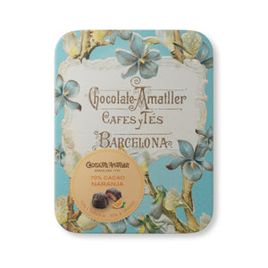 Chocolate Orange & 70% Cocoa Flowers Tin 72g