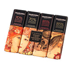Assortment Amatller Chocolate Single Origins 18g. x 4