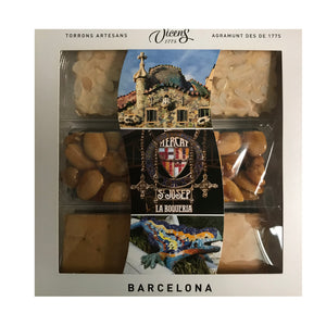 "Assortment ""Barcelona Gaudi"" Nougats  3X80g."