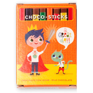 Simon Coll Milk Chocolate Sticks 20g Comic Style_A great Day!