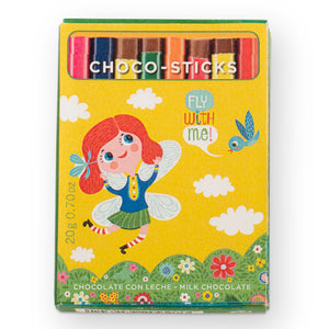 Simon Coll Milk Chocolate Sticks 20g Comic Style_Fly With Me!